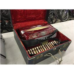 VINTAGE POLLINA ACCORDION WITH TRAVEL CASE