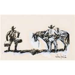 Santee, Ross - Cowboys and Horse