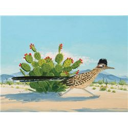 Lau, Ruth M. - Prickly Pear And Roadrunner