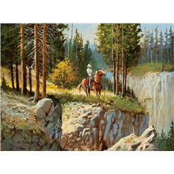 Shaddix, Bill - Collection of Three Paintings - Deep Fall, Rough Country, Aspen Morning