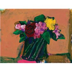 Scholder, Fritz - Bouquet in Green Vase