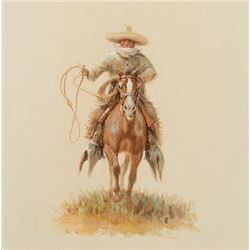 Wieghorst, Olaf - Mexican Cowboy with Coiled Rope