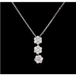 0.80 ctw Diamond Pendant - 14KT White Gold