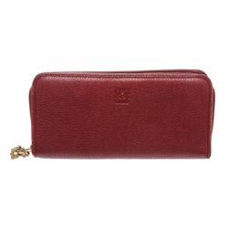 Loewe Red Leather Limited Edition Year of the Dragon Zip Around Long Wallet