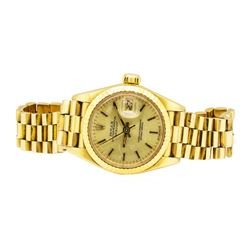 Rolex 18KT Yellow Gold Ladie's Oyster Perpetual Datejust Wristwatch