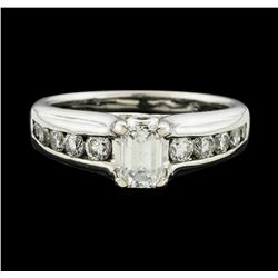 14KT White Gold 1.01 ctw Diamond Ring