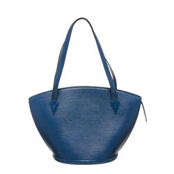 Louis Vuitton Blue Epi Leather St Jacques GM Shoulder Bag