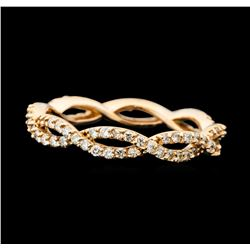 0.59 ctw Diamond Braided Eternity Band - 14KT Rose Gold