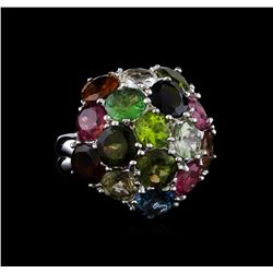 11.08 ctw Tourmaline Ring - 14KT White Gold