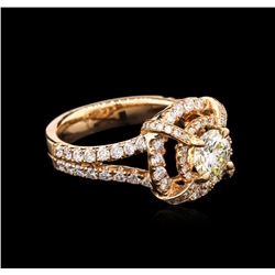 2.06 ctw Diamond Ring - 14KT Rose Gold