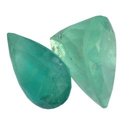 4.2 ctw Pear Mixed Emerald Parcel