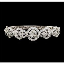 6.53 ctw Diamond Bracelet - 18KT White Gold