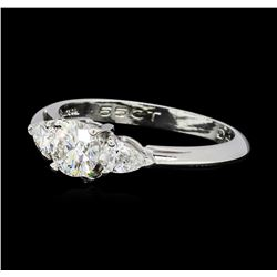 0.85 ctw Diamond Ring - Platinum