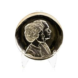 President and First Lady Nixon Art Sculpture Plate 999/1000