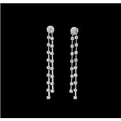 14KT White Gold 2.25 ctw Diamond Earrings
