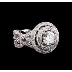 14KT White Gold GIA Certified 3.01 ctw Diamond Ring