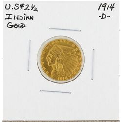 1914-D $2 1/2 Indian Head Gold Coin