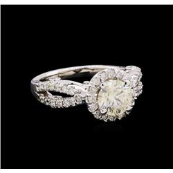 1.85 ctw Diamond Ring - 14KT White Gold