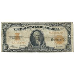 1922 $10 Large Legal Tender Bank Note
