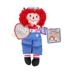 Hasbro/Aurora Raggedy Andy Classic 100th Anniversary Stuffed Rag Doll - New with
