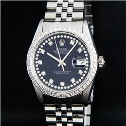 Rolex Stainless Steel VVS Diamond DateJust Men's Watch