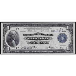 1918 $1 Federal Reserve Bank Note Chicago