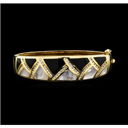 1.60 ctw Diamond Bangle Bracelet - 14KT Yellow Gold