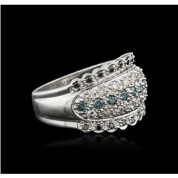 14KT White Gold 0.62 ctw Diamond Ring