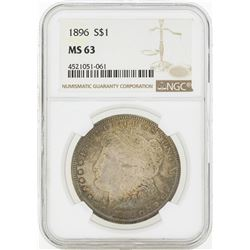 1896 MS63 NGC Morgan Silver Dollar