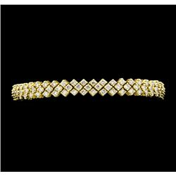 10.00 ctw Diamond Bracelet - 18KT Yellow Gold