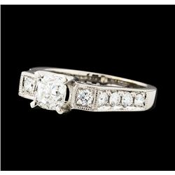 1.54 ctw Diamond Ring - 18KT White Gold