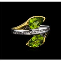 Crayola 2.20 ctw Peridot and White Sapphire Ring - .925 Silver