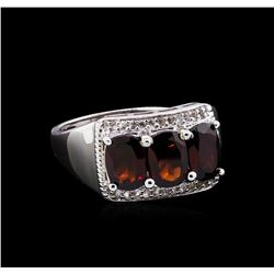Crayola 3.00 ctw Garnet and White Sapphire Ring - .925 Silver