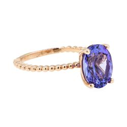 2.93 ctw Tanzanite Ring - 14KT Rose Gold