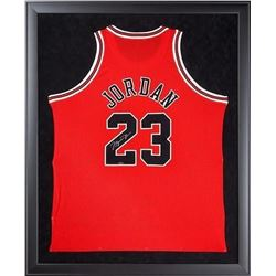 Michael Jordan Signed Bulls 32x44 Custom Framed Authentic Mitchell  Ness Jersey (UDA COA)