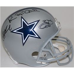 Emmitt Smith, Troy Aikman  Michael Irvin Signed Cowboys Full-Size Helmet (Radke COA, Aikman  Smith H