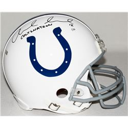 "Andrew Luck Signed Colts Full-Size Authentic Pro-Line Speed Helmet Inscribed ""Coltsnation"" Limited E"