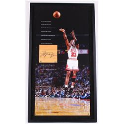 Michael Jordan Signed LE Bulls 22x40 Custom Framed Authentic Game-Used Floor Piece (UDA COA)
