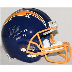 "Dan Fouts Signed Chargers Full-Size Authentic Pro-Line Helmet Inscribed ""NFL MVP '82""  ""HOF '93"" Lim"