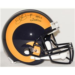 "Eric Dickerson Signed Rams Full-Size Authentic Pro-Line Helmet Inscribed ""HOF 99""  ""2105 YDs"" Limite"