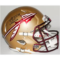 "Jameis Winston Signed Florida State Full-Size Authentic Pro-Line Speed Helmet Inscribed ""Heisman 13"""