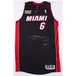 "LeBron James Signed LE Heat Adidas On-Court Jersey with 2013 ""Back 2 Back NBA Champions"" Patch (UDA"
