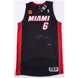 "LeBron James Signed LE Heat Adidas On-Court Jersey with 2013 ""Back 2 Back NBA Finals MVP"" Patch (UDA"