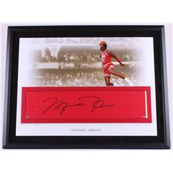 Michael Jordan Signed Bulls 28x35 Custom Framed Authentic Game-Used Floor Piece Limited Edition #23/