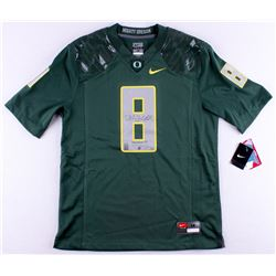 "Marcus Mariota Signed Oregon Ducks Nike Authentic On-Field Jersey Inscribed ""Heisman '14"" (Mariota H"