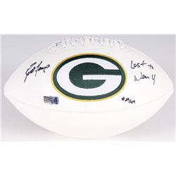 "Brett Favre Signed LE Packers Logo Football Inscribed ""Last to Wear 4"" #24/44 (Favre Hologram  COA)"