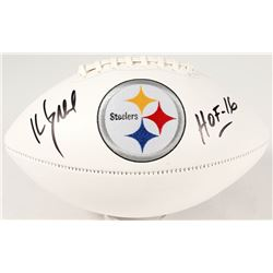 "Kevin Greene Signed Steelers Logo Football Inscribed ""HOF 16"" (JSA COA)"