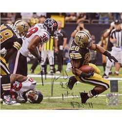 "Mark Ingram Signed Saints 8x10 Photo Inscribed ""1st Saints TD""  ""9-25-11"" (Ingram Hologram)"