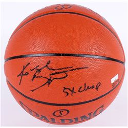 "Kobe Bryant Signed LE NBA Game Ball Series Basketball Inscribed ""5x Champ"" (Panini COA)"
