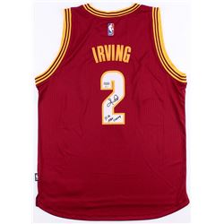 "Kyrie Irving Signed LE Cavaliers Adidas Alternate Jersey Inscribed ""15-16 NBA Champ"" Limited Edition"